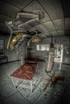 Abandoned surgery room