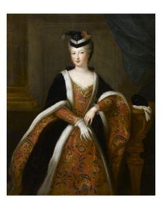 Gobert Pierre - Francoise Marie de Bourbon Mademoiselle de Blois duchesse d Orleans 1677 1749 en costume