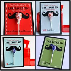Although Jr High kids don't typically give out Valentine's, I think my daughter and her friends would love these!  Erin Gilbert - this made me think of you!!