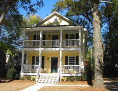 Stacked Porches in 3 Sizes - 10039TT | 2nd Floor Master Suite, CAD Available, Narrow Lot, PDF, Photo Gallery, Southern | Architectural Designs