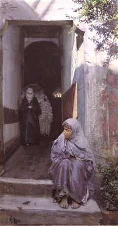 "Anders Zorn: ""In Top Capu"", 1885, watercolor, paper Location: Private Collection."