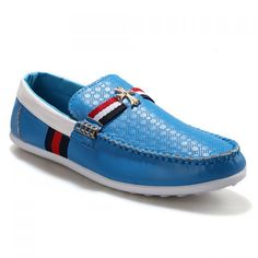 Outdoor Cross Pattern and Splice Design Loafers For Men, BLUE, 44 in Men's Shoes | DressLily.com
