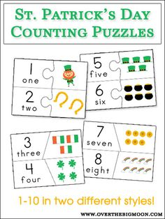 StPats Counting Puzzle Cards