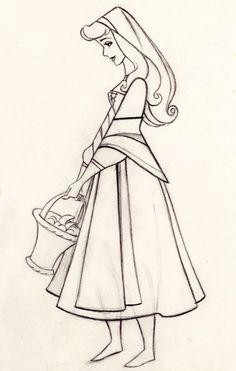 Disney's Sleeping Beauty Production Drawing