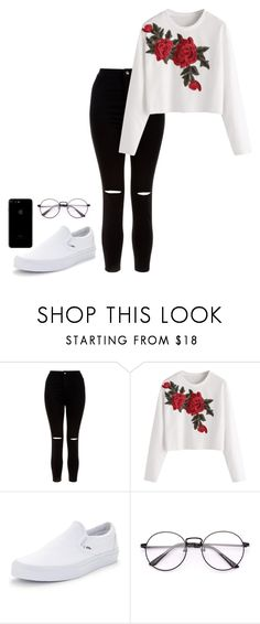 """Untitled #12"" by hannahdowns14 on Polyvore featuring New Look and Vans"