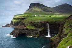 Gasadalur Waterfall by Fabian Zehnder on 500px   Faroe Islands