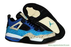 superior quality 63e8b ae457 tenis barato de marca Masculino Cookie Monster AIR JORDAN 4 RETRO  Azul Preto Cinza
