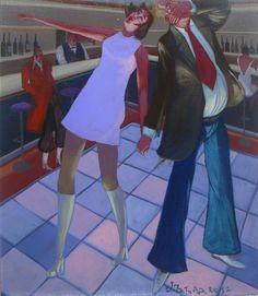 """Jacek PAŁUCHA - """"Disco party"""" - Obrazy, malarstwo współczesne, galeria sztuki Bielsko Biała"""