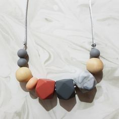 """33 Likes, 2 Comments - Teething Jewellery/Accessories (@mummysbubble) on Instagram: """"""""Photos do not do this necklace justice. Its really beautiful. Loved picking the colours and…"""""""