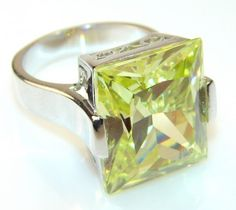 Precious Lime Mystic Topaz Sterling Silver Ring s. 8 1/4