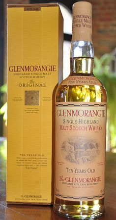 Glenmorangie single malt #scotch whiskey.