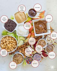 Sliced caramel apples and all the toppings for a fall caramel apple board. Sliced caramel apples and all the toppings for a fall caramel apple board. Caramel Apple Slices, Caramel Apple Bars, Caramel Dip, Caramel Apples, Candy Apple Bars, Hallowen Food, Fall Appetizers, Best Cheese, Food Platters