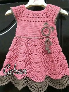 Fabulous Crochet a Little Black Crochet Dress Ideas. Georgeous Crochet a Little Black Crochet Dress Ideas. Crochet Dress Girl, Crochet Baby Dress Pattern, Baby Dress Patterns, Baby Girl Crochet, Crochet Baby Clothes, Crochet For Kids, Baby Blanket Crochet, Knit Crochet, Crochet Dresses