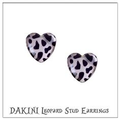 Silver colour heart studs with animal print that will warm the heart of every girl.  Metal free anti allergy earrings. Link in profile. #smallbrand #handmade #madeindenmark #jewelry #jewellery #jewelrydesign #dakini #dakinijewelry #dakinismykker #earrings #leopard #leo #leopardprint #heart #heartearrings #upcoming #onlineshop #personaljewelry #animalprint #girly #cutestyle #modernjewelry #heartstuds #streetwear #streetfashion #urbanjewellery #urbanfashion #håndlavedesmykker #hjerter…