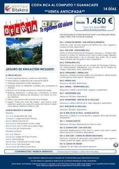 REGALAMOS 100 dolares. Costa Rica al Completo y Guanacaste desde 1450€ + tasas ultimo minuto - http://zocotours.com/regalamos-100-dolares-costa-rica-al-completo-y-guanacaste-desde-1450e-tasas-ultimo-minuto-2/