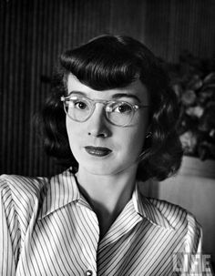 A woman modeling a pair of glamorous glasses. LIFE 1945 by Nina Leen