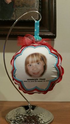 A memorial ornament for my great niece who passed away in Auguat 2013.  She was a beautiful young girl.