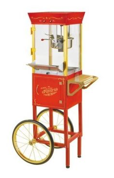 Circus Cart Popcorn Maker Treats Movie Theater Decor Home Old Fashioned New | eBay