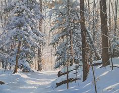 Cathedral of Snow by Christopher Leeper Acrylic ~ 24 x 30