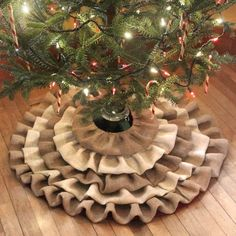 How To Make a Burlap Tree Skirt