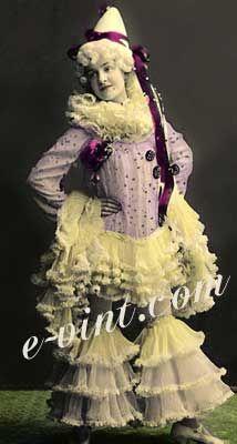 Vintage Women Clown, Puppets & Pierrots Costumes Image Detail