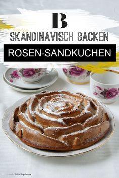 """Rosen-Sandkuchen: #Nachtisch Rezepte, #Dessert Rezepte, #Milchprodukte Rezepte, #Skandinavische Rezepte, Dieses Rezept stammt aus dem Buch """"Skandinavisch backen"""" von Trine Hahnemann (Edition Michael Fischer)."""