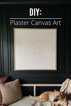 DIY Plaster Canvas Art