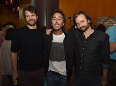The Duffer Brothers and Shawn Levy - writers, directors, producers, creators of Stranger Things.