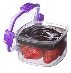 Sistema KLIP IT Snack to Go Color Accents - purple.  Features a removable compartment generously sized for dips or spreads.