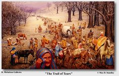 """""""Trail of Tears"""" was an Indian removal policy that forced the Indians to move lands from East of the Mississippi River and migrate to an area in present-day Oklahoma. The """"Trail of Tears"""" occured in Choctaw Nation, Cherokee Nation, Cherokee Indians, Cherokee Chief, Seminole Indians, Native American Tribes, Native American History, Cherokee History, Trinidad"""