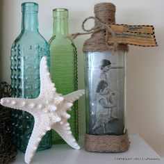 Beachy Photo in a Bottle - for my beachy basement to be.