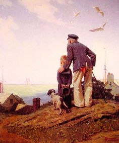 The Stayathomes - Outward Bound-Norman Rockwell