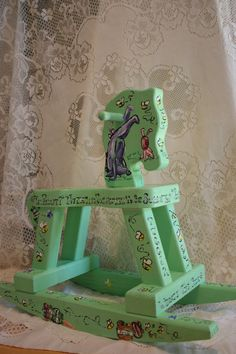 Classic Winnie the Pooh Inspired Rocking Horse. $115.00, via Etsy.