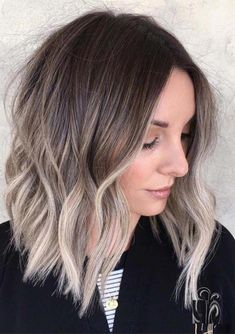 62 best of balayage shadow root babylights hair colors for 2019 31 Medium Hair Cuts, Medium Hair Styles, Short Hair Styles, Haircut Medium, Ombre Medium Hair, Blonde Hair Styles Medium Length, Balayage Hair Brunette Medium, Ash Blonde Balayage Short, Medium Haircuts For Women