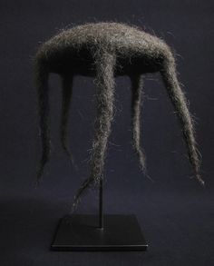 "This wonderful rain hat from Bhutan is fashioned from yak hair. The pointed ends would stream the rain away from the wearer's body. It measures 10"" high by 8"" in diameter. Mid- 20th century. #1997"