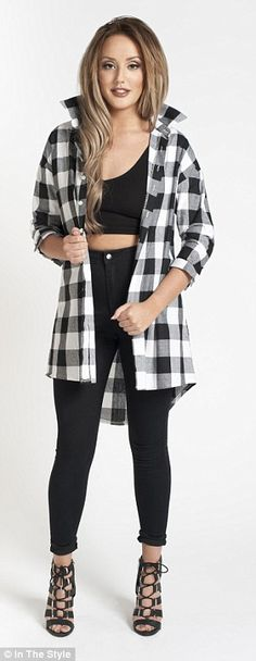 Charlotte Crosby models clothing collection inspired by weightloss Charlotte Crosby, Charlotte Geordie, Charlotte Letitia, Plaid Shirt Outfits, Model Outfits, Fashion Outfits, Stylish Outfits, Plaid Flannel, Flannel Shirts