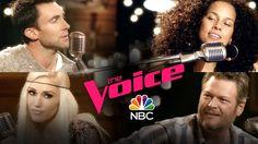 "Alicia Keys, Adam Levine, Blake Shelton and Gwen Stefani: ""Waterfalls"" - The Voice 2017 - YouTube"