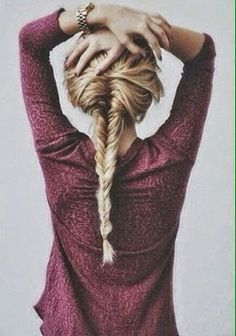 Messy Fishtail Braid - Teen Fashion - follow @Christina Childress Childress Spencer Fashion