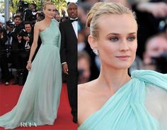 Diane Kruger at the Cannes Film Festival in 2012 wearing Giambattista Valli