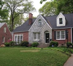 Image result for Modernise brick-face, cottage pane window buildings