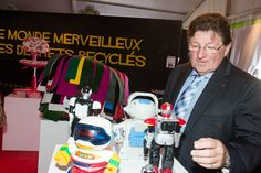 Guy-Dominique Kennel, Président du Conseil Général du Bas-Rhin visite l'Exposition Le Monde merveilleux des déchets recyclés à la Foire Européenne © Denis Guichot / CG67