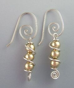 Silver and Gold Earrings by BJChristianDesigns on Etsy, $40.00