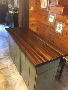 This beautiful butcher block top is made of black walnut the dimensions of this particular one is 28 x 57 x 1 thick. It can be used as an island top or counter top. Also can add hairpin legs to make a coffee table. Walnut Butcher Block, Butcher Block Tables, Butcher Block Top, Butcher Blocks, Laundry Room Counter, Wood Counter, Counter Tops, Laundry Rooms, Faux Granite