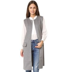 Cupcakes and Cashmere Long Fashion Vest | outerwear | www.lynevans.com