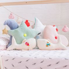 Kids cushions and bedding, available at Bobby Rabbit.
