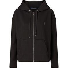 Polo Ralph Lauren Full Zip Hoodie, Polo Black (2 180 ZAR) ❤ liked on Polyvore featuring tops, hoodies, polo fleece hoodie, hooded sweatshirt, long sleeve tops, polo hoodie and hooded pullover