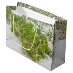 #Green plants at the beach large gift bag - #beach #travel #beachlife