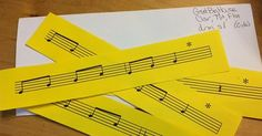 Envelope Game for Beginning Band or General Music: Great idea to work on inner hearing and reading!