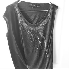 Sequence Top Black and gray sequence top. Like new only worn twice. Miss Me Tops