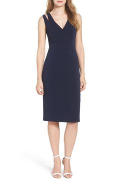 New Vince Camuto Cutout Shoulder Crepe Sheath Dress, Black Multi fashion dress online. [$148]>>newtstyle Shop fashion 2017 <<
